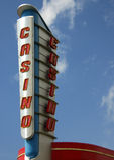 Kasino-Zeichen lizenzfreie stockfotos