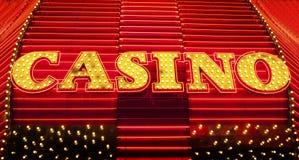 Kasino-Zeichen Stockfoto