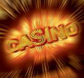 Kasino-Zeichen Lizenzfreies Stockfoto