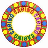 Kasinochip mit Platz für Ihr Zeichen Stockbilder