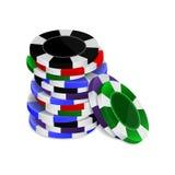Kasinochip-Stapel Lizenzfreies Stockfoto