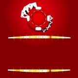 Kasinochipbakgrund royaltyfri illustrationer