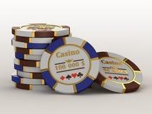 Kasinochips. Lizenzfreies Stockfoto