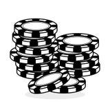 Kasinodesign Lek och Las Vegas illustration Fotografering för Bildbyråer