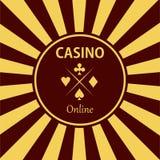 Kasinogestaltungselementikonen Kasinospiele Ace, das c spielt Lizenzfreies Stockbild