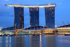 kasinoguldsand singapore Royaltyfri Foto