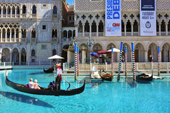 kasinohotelllas tillgriper venetian vegas Arkivbild
