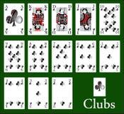 Kasinoklubbor royaltyfri illustrationer