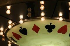 Kasinoneonleuchten lizenzfreies stockbild