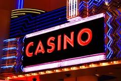 Kasinoneonleuchten Stockbild