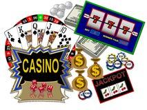 Kasinos und Spielen Lizenzfreies Stockfoto