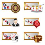 kasinosymboler vektor illustrationer