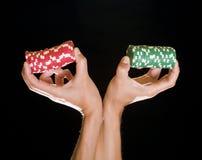 kasinot chips dobbleri Fotografering för Bildbyråer