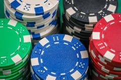 kasinot 3d chips illustrationen Arkivbild