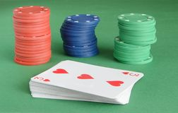 kasinot 3d chips illustrationen Royaltyfri Bild