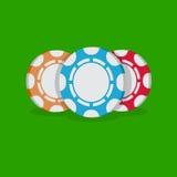 kasinot 3d chips illustrationen Fotografering för Bildbyråer