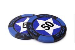 kasinot 3d chips illustrationen Arkivfoto