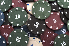 kasinot 3d chips illustrationen Royaltyfri Foto