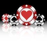 kasinot 3d chips illustrationen royaltyfri illustrationer
