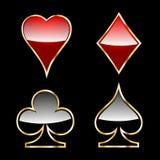 Kasinotecken royaltyfri illustrationer