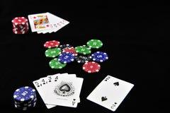 Kasinotecken och poker Arkivbilder