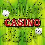 Kasinowürfelsatz Stockfotos