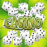 Kasinowürfelsatz Stockbilder