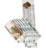 Kasjera pieniądze i czek Zdjęcie Royalty Free