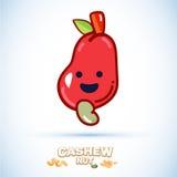 Kasju med den smily framsidan teckendesign - Royaltyfri Fotografi