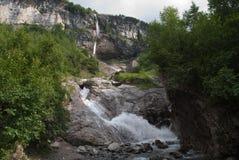 Kaskad du Dar (den Dar vattenfallet) Arkivfoto