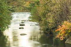 Kaskada i rzeka Zdjęcia Stock