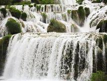 Kaskada siklawa w Kornati regionie, Dalmatia Obraz Royalty Free