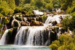 Kaskada siklawy, Krka park narodowy, Chorwacja Obraz Royalty Free