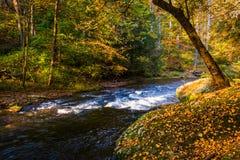 Kaskaden auf dem Schießpulver-Fluss im Schießpulver fällt Nationalpark, M lizenzfreies stockbild