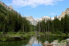 Kaskaden-Nebenfluss im großartigen Tetons Lizenzfreies Stockbild