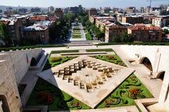 Kaskaden in Yerevan stockbilder