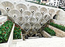 Kaskadenbrunnen in Eriwan, Armenien stockfotos