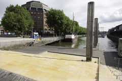 Kaskadenschritte, Bristol-Hafen, England Lizenzfreie Stockfotos