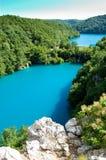 Kaskadieren Sie Seen im Nationalpark Plitvice in Kroatien Lizenzfreie Stockfotografie