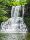 Kaskadnedgångarna Giles County, Virginia, USA - 2 Arkivfoto