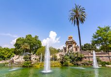Kaskadowa fontanna w Ciutadella parku, Barcelona, Hiszpania zdjęcie stock