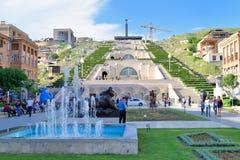 Kaskadowy schody, Yerevan, Armenia Obraz Royalty Free