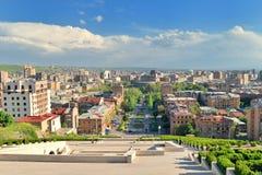 Kaskadtrappan, Yerevan, Armenien Fotografering för Bildbyråer