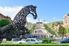Kaskadtrappan, Yerevan, Armenien Royaltyfria Foton