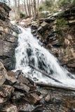 Kaskady Rodla waterfall on Biala Wiselka river in Silesian Beskids mountains in Poland Stock Photography