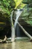 Kaskaskia峡谷,饥饿的岩石,伊利诺伊 库存照片