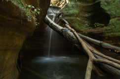 Kaskaskia Canyon cascade. Royalty Free Stock Photos