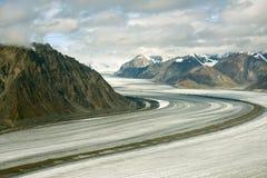 Kaskawulsh冰川和山, Kluane国家公园,育空02 库存图片