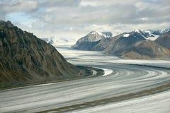 Kaskawulsh glaciär och berg, Kluane nationalpark, Yukon 01 Royaltyfri Foto