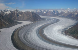 Kaskawulsh Gletscher Lizenzfreie Stockfotografie